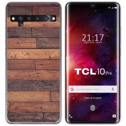 Funda Gel Tpu para TCL 10 Pro diseño Madera 03 Dibujos