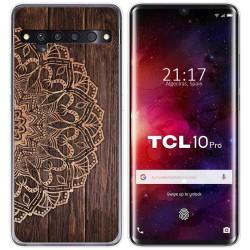 Funda Gel Tpu para TCL 10 Pro diseño Madera 06 Dibujos