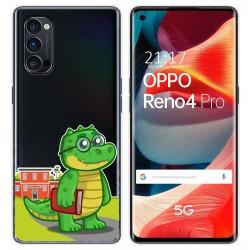 Funda Gel Transparente para Oppo Reno 4 Pro 5G diseño Coco Dibujos