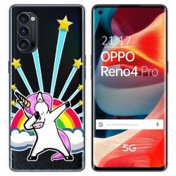 Funda Gel Transparente para Oppo Reno 4 Pro 5G diseño Unicornio Dibujos