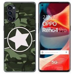 Funda Gel Tpu para Oppo Reno 4 Pro 5G diseño Camuflaje 01 Dibujos