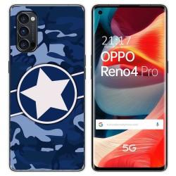 Funda Gel Tpu para Oppo Reno 4 Pro 5G diseño Camuflaje 03 Dibujos