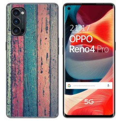 Funda Gel Tpu para Oppo Reno 4 Pro 5G diseño Madera 10 Dibujos