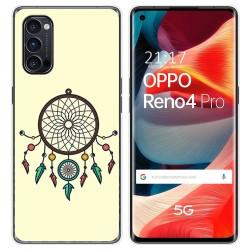 Funda Gel Tpu para Oppo Reno 4 Pro 5G diseño Atrapasueños Dibujos