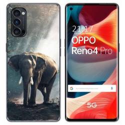 Funda Gel Tpu para Oppo Reno 4 Pro 5G diseño Elefante Dibujos
