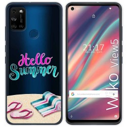 Funda Gel Transparente para Wiko View5 / View5 Plus diseño Summer Dibujos
