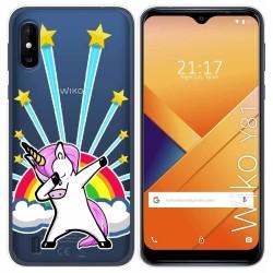 Funda Gel Transparente para Wiko Y81 diseño Unicornio Dibujos