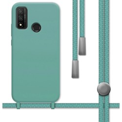 Funda Silicona Líquida con Cordón para Huawei P Smart 2020 color Verde