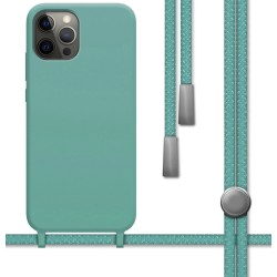 Funda Silicona Líquida con Cordón para Iphone 12 Pro Max (6.7) color Verde