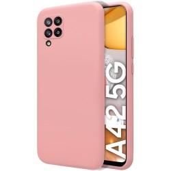 Funda Silicona Líquida Ultra Suave para Samsung Galaxy A42 5G color Rosa