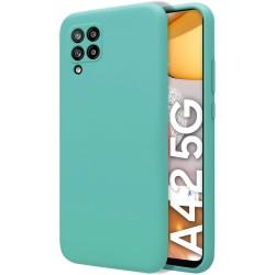 Funda Silicona Líquida Ultra Suave para Samsung Galaxy A42 5G color Verde