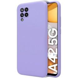 Funda Silicona Líquida Ultra Suave para Samsung Galaxy A42 5G color Morada