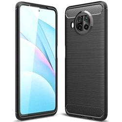Funda Gel Tpu Tipo Carbon Negra para Xiaomi Mi 10T Lite