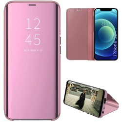 Funda Flip Cover Clear View para Iphone 12 / 12 Pro (6.1) color Rosa