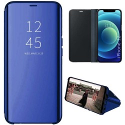 Funda Flip Cover Clear View para Iphone 12 Pro Max (6.7) color Azul