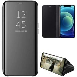 Funda Flip Cover Clear View para Iphone 12 Pro Max (6.7) color Negra