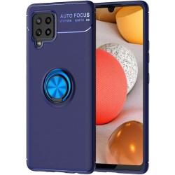 Funda Magnetica Soporte con Anillo Giratorio 360 para Samsung Galaxy A42 5G Azul
