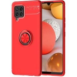 Funda Magnetica Soporte con Anillo Giratorio 360 para Samsung Galaxy A42 5G Roja