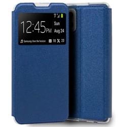 Funda Libro Soporte con Ventana para Samsung Galaxy A42 5G color Azul
