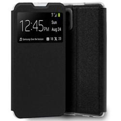 Funda Libro Soporte con Ventana para Samsung Galaxy A42 5G color Negra