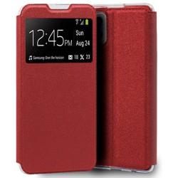 Funda Libro Soporte con Ventana para Samsung Galaxy A42 5G color Roja