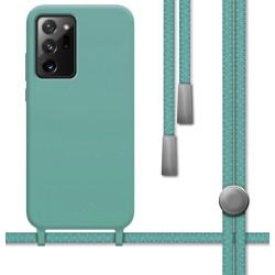 Funda Silicona Líquida con Cordón para Samsung Galaxy Note 20 Ultra color Verde