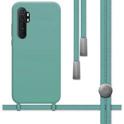 Funda Silicona Líquida con Cordón para Xiaomi Mi Note 10 Lite color Verde