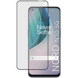 Protector Cristal Templado Completo 5D Full Glue Negro para OnePlus Nord N10 5G Vidrio