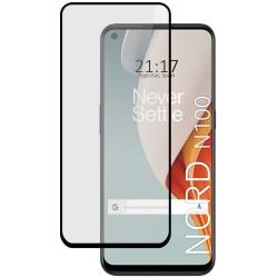 Protector Cristal Templado Completo 5D Full Glue Negro para OnePlus Nord N100 Vidrio