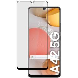 Protector Cristal Templado Completo 5D Full Glue Negro para Samsung Galaxy A42 5G Vidrio