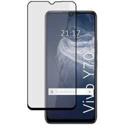 Protector Cristal Templado Completo 5D Full Glue Negro para Vivo Y70 Vidrio