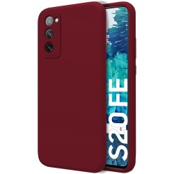 Funda Silicona Líquida Ultra Suave para Samsung Galaxy S20 FE color Roja Corinto