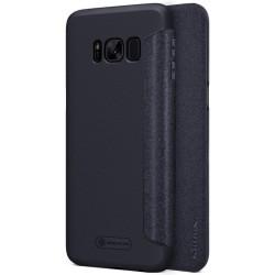 Funda Flip Negra Nillkin Modelo Sparkle para Samsung Galaxy S8 Plus