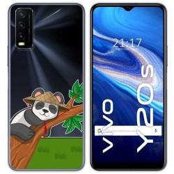 Funda Gel Transparente para Vivo Y20s / Y11s diseño Panda Dibujos