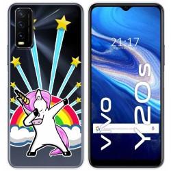Funda Gel Transparente para Vivo Y20s / Y11s diseño Unicornio Dibujos