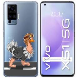 Funda Gel Transparente para Vivo X51 5G diseño Avestruz Dibujos