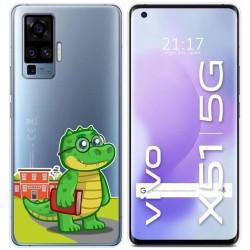 Funda Gel Transparente para Vivo X51 5G diseño Coco Dibujos