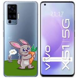 Funda Gel Transparente para Vivo X51 5G diseño Conejo Dibujos