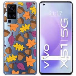 Funda Gel Transparente para Vivo X51 5G diseño Otoño Dibujos