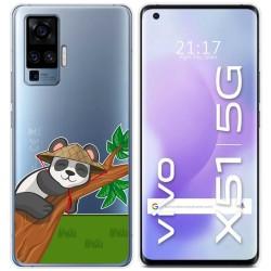 Funda Gel Transparente para Vivo X51 5G diseño Panda Dibujos