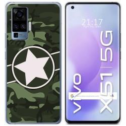 Funda Gel Tpu para Vivo X51 5G diseño Camuflaje 01 Dibujos