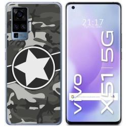 Funda Gel Tpu para Vivo X51 5G diseño Camuflaje 02 Dibujos