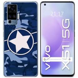 Funda Gel Tpu para Vivo X51 5G diseño Camuflaje 03 Dibujos