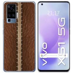 Funda Gel Tpu para Vivo X51 5G diseño Cuero 01 Dibujos