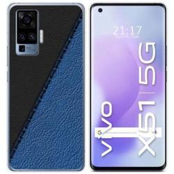 Funda Gel Tpu para Vivo X51 5G diseño Cuero 02 Dibujos