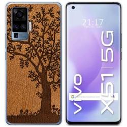 Funda Gel Tpu para Vivo X51 5G diseño Cuero 03 Dibujos