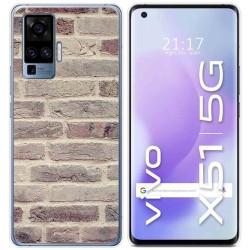 Funda Gel Tpu para Vivo X51 5G diseño Ladrillo 01 Dibujos