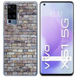 Funda Gel Tpu para Vivo X51 5G diseño Ladrillo 02 Dibujos