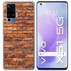 Funda Gel Tpu para Vivo X51 5G diseño Ladrillo 04 Dibujos