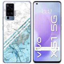 Funda Gel Tpu para Vivo X51 5G diseño Mármol 02 Dibujos
